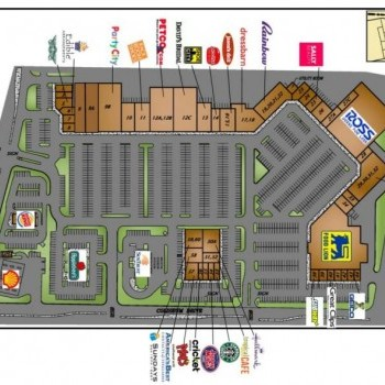 Plan of mall Coliseum Crossing