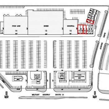 Plan of mall College Park Square