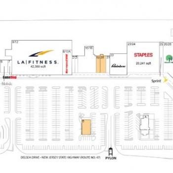 Plan of mall Collegetown Shopping Center