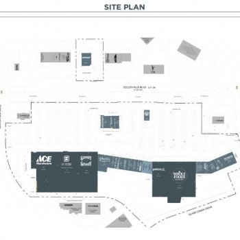 Plan of mall Colleyville Downs