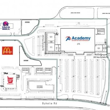 Plan of mall Collierville Crossing