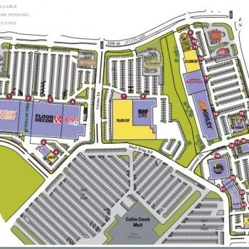 Plan of mall Collin Creek Shopping Center
