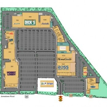 Plan of mall Colonial Commons