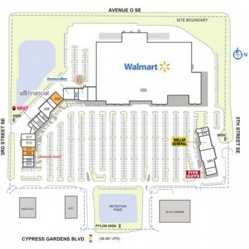 Plan of mall Colonial Promenade Winter Haven