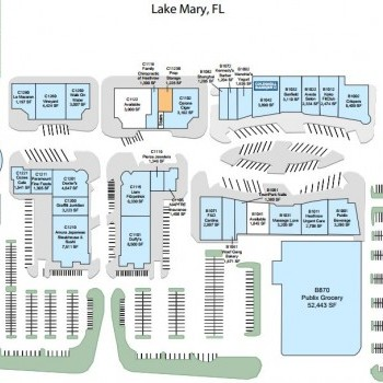 Map Of Lake Mary Florida.Colonial Town Park Store List Hours Location Lake Mary