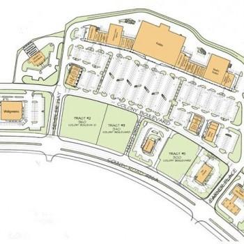 Plan of mall Colony Plaza