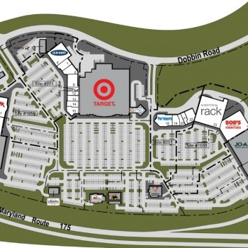 Plan of mall Columbia Crossing