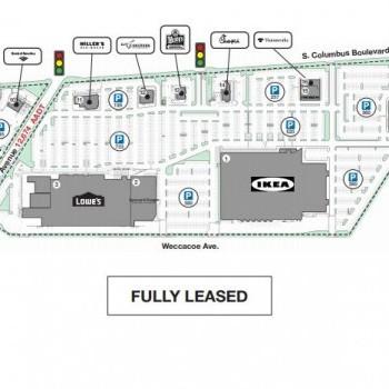Plan of mall Columbus Commons
