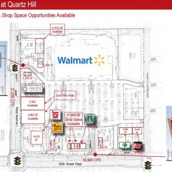 Plan of mall Commons at Quartz Hill