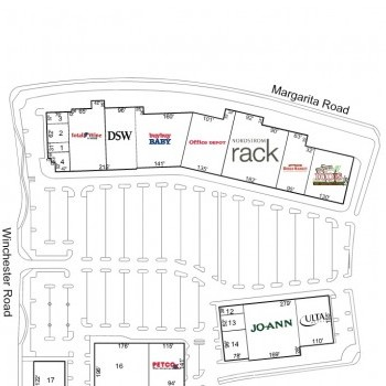 Plan of mall Commons at Temecula