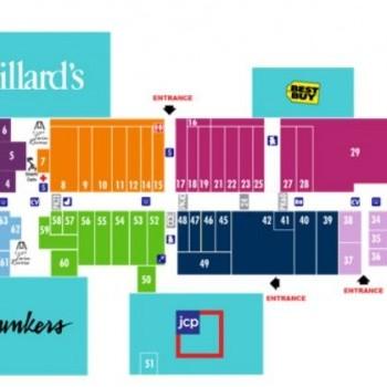 Plan of mall Conestoga Mall