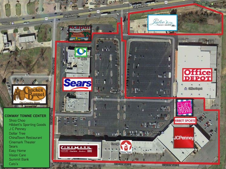 conway towne center store list hours location conway arkansas malls in america. Black Bedroom Furniture Sets. Home Design Ideas