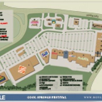 Plan of mall Cool Springs Festival