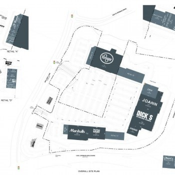 Plan of mall Cool Springs Market