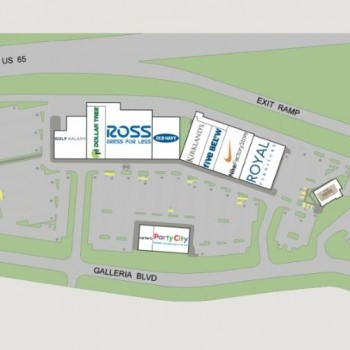 Plan of mall Cool Springs Pointe