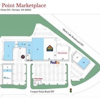 Plan of mall Cooper Point Marketplace