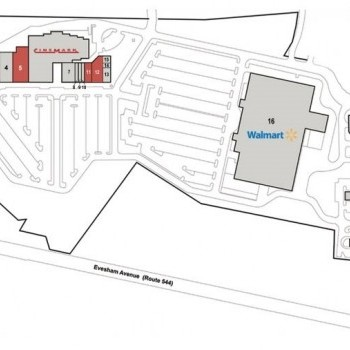Plan of mall CooperTowne Center