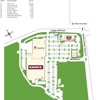 Plan of mall Copps Hill Plaza