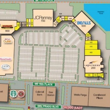 Plan of mall Coralwood Shopping Center