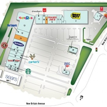 Plan of mall Corbins Corner Shopping Center