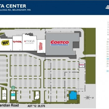 Plan of mall Cordata Center