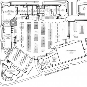 Plan of mall Corona Del Mar Plaza