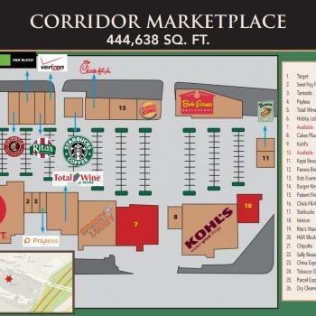 Plan of mall Corridor Marketplace