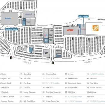 Plan of mall Cortlandt Town Center
