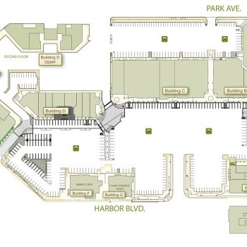 Plan of mall Costa Mesa Courtyards