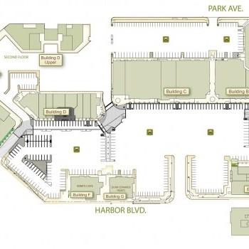 Plan of mall Costa Mesa Courtyards