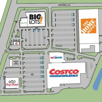 Plan of mall Costco Plaza - Middle River
