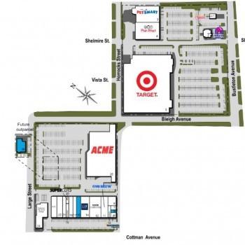 Plan of mall Cottman & Bustleton Center