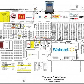 Plan of mall Country Club Plaza