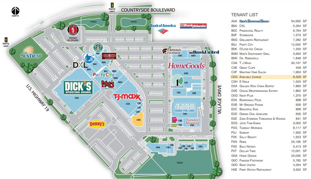 Countryside Mall Map Countryside Centre   store list, hours, (location: Clearwater