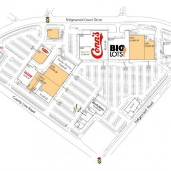 Plan of mall County Line Plaza