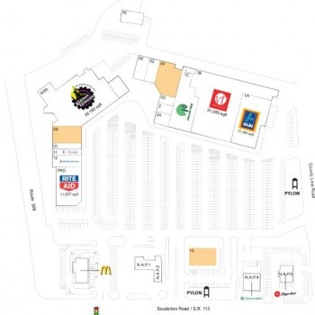 Plan of mall County Line Plaza - Souderton