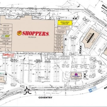 Plan of mall Coventry Plaza