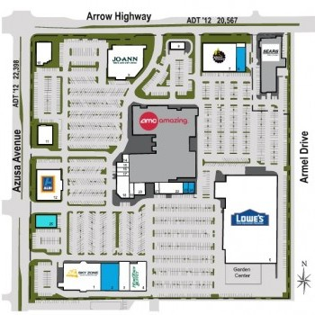 Plan of mall Covina Town Square