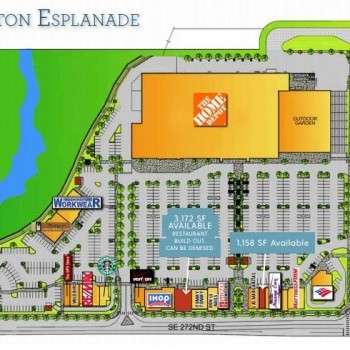 Plan of mall Covington Esplanade