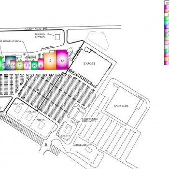 Plan of mall Cox Creek Shopping Center