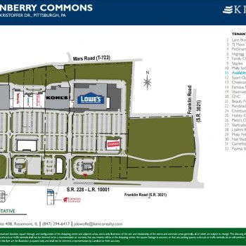 Plan of mall Cranberry Commons