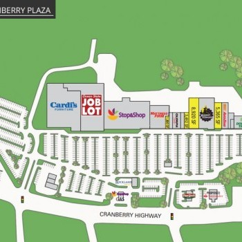 Plan of mall Cranberry Plaza Shopping Center