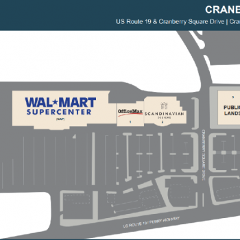 Plan of mall Cranberry Square