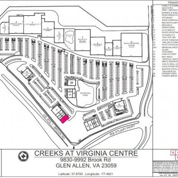 Plan of mall Creeks at Virginia Center