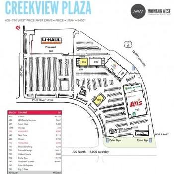 Plan of mall Creekview Plaza