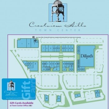 Plan of mall Crestview Hills Town Center