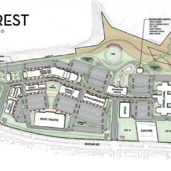 Plan of mall Crestwood Court