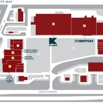 Plan of mall Crofton Centre