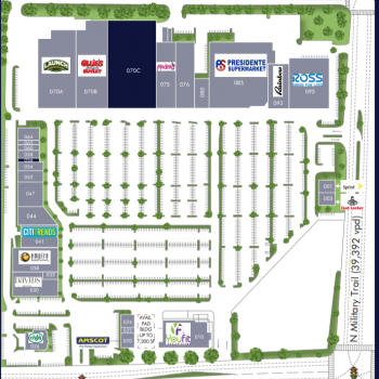 Plan of mall Cross County Plaza