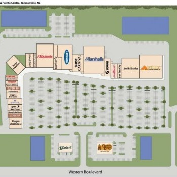 Plan of mall Cross Pointe Centre